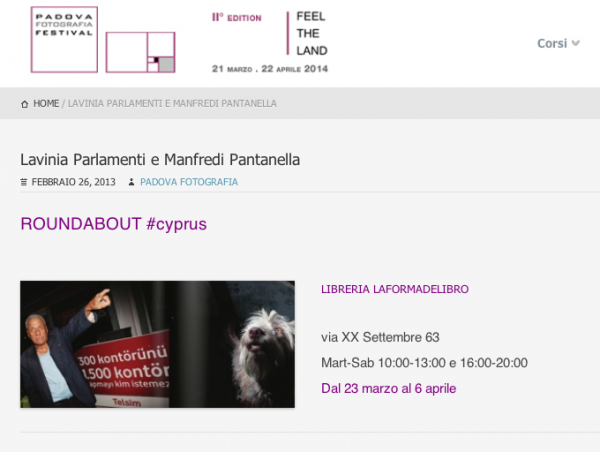 Roundabout#Cyprus is exhibited at Padova Fotografia Festival