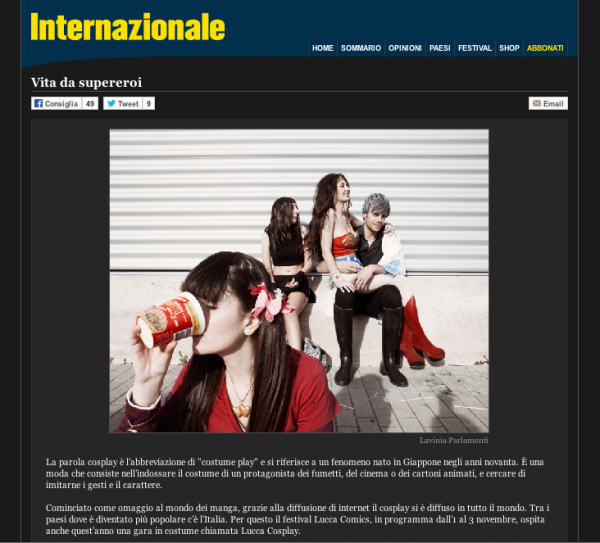 "Part-Time Heroes is on <a href=""http://www.internazionale.it/portfolio/vita-da-supereroi/"" target=""_blank"">Internazionale</a>"