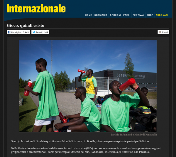 "I kick therefore I am on <a href=""http://www.internazionale.it/portfolio/gioco-quindi-esisto/"" target=""_blank"">Internazionale</a>"